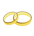 Weddings rings golden vector image vector image