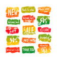 welcome back to school banners set vector image vector image