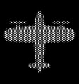 white dot aircraft icon vector image