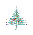Five Christmas Balls Decoration on Christmas Tree vector image