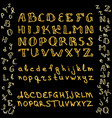 set of hand drawn glitter golden alphabet in vector image