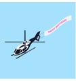 Isometric helicopter with ridgepole vector image