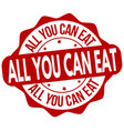 all you can eat sign or stamp vector image
