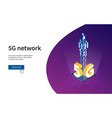 antenna for wireless network 5g vector image