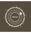 Astrology symbols in circle Fish sign vector image vector image