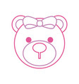 baby shower teddy girl cute animal vector image