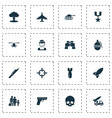 battle icons set collection of aircraft ordnance vector image vector image
