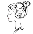 Beautiful girl face vector image