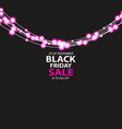 black friday sale poster with shining red light vector image vector image