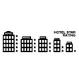 black silhouette hotel star rating isolated vector image vector image
