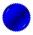 blue seal vector image vector image
