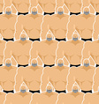 Bodybuilders seamless pattern Many of male fitness vector image