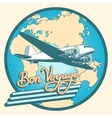 Bon voyage abstract retro plane poster vector image vector image