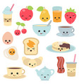 breakfast food and beverages breakfast food and vector image