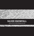 brick pattern set silver snowfall seamless brick vector image