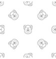 camp backpack pattern seamless vector image vector image