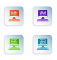 color shopping building on screen computer icon vector image vector image