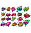 comic speech bubbles burst boom wow hey ok vector image vector image