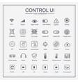 control user interface icon set vector image vector image