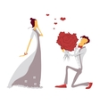 Couple in love lovers engagement vector image