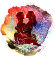 couple practicing tantra yoga vector image vector image