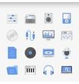 Creative Flat ikon set vector image