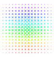 crossing swords icon halftone spectrum grid vector image vector image