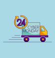cyber monday shop vector image vector image