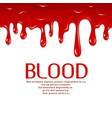 Dripping seamless blood Horror concept vector image
