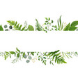 floral greenery card design with green fern leaves vector image vector image