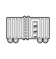 freight train cargo car container and boxes vector image