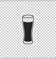 glass of beer icon on transparent background vector image vector image