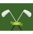 Golf sport game vector image vector image
