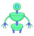 green robot icon cartoon style vector image