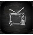 Hand Drawn Television vector image