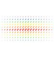 heterosexual symbol spectrum halftone pattern vector image