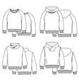 Hoodies white vector image