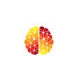 hot brain logo icon design vector image vector image