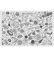 italian food doodle set vector image