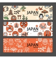 Japan Banner Card Set vector image vector image