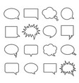 line speech bubbles vector image vector image