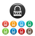 lock icons set color vector image vector image