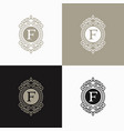 luxury letter logo template vector image vector image