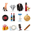 luxury party and reception icons vector image vector image