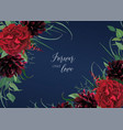 luxury stylish floral watercolor wedding invite vector image vector image