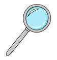 magnifying glass colored doodle style vector image