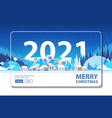 merry christmas 2021 happy new year winter vector image