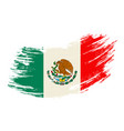 mexican flag grunge brush background vector image
