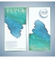 Modern watercolor flyer or leaflet layout design vector image
