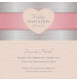 Modern wedding invitation pink and silver